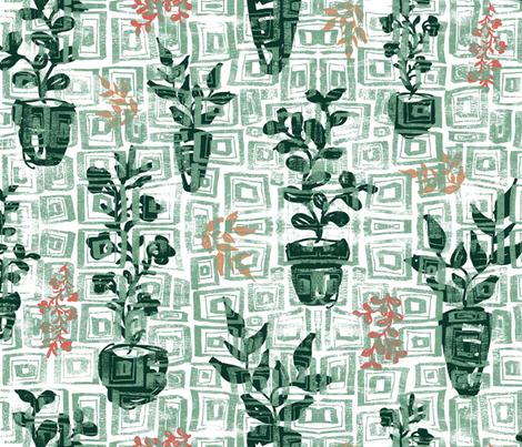 Desert Sukkulents fabric by susannekasielke on Spoonflower - custom fabric