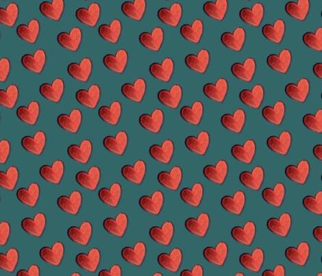 Big Red Hearts fabric by katsanders on Spoonflower - custom fabric