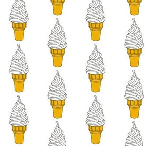 Vanilla Ice Cream Cone - Soft Serve