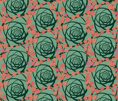 aloe with flowers fabric by mophead on Spoonflower - custom fabric