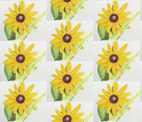 Yellow Flower fabric by jennabee25 on Spoonflower - custom fabric