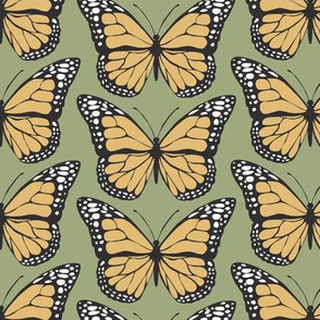 Monarch Butterflies - Green