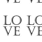 Typographic LOVE Text