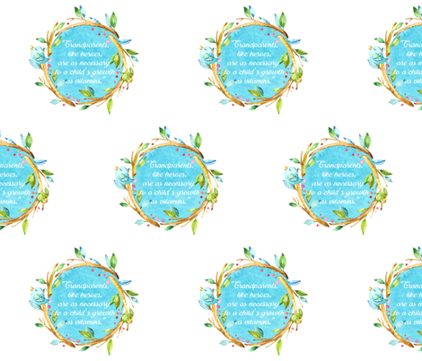 Grandparents Watercolor Quote  fabric by sew_delightful on Spoonflower - custom fabric