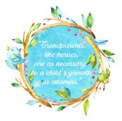 Grandparents Watercolor Quote