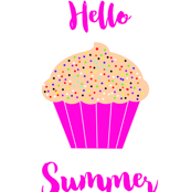 Summer Cupcake With Sprinkles