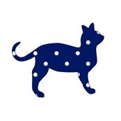 Polka Dot Navy Cat