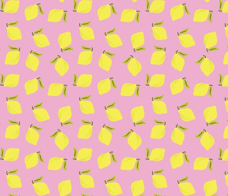 Pink Lemonade fabric by tayjayfab on Spoonflower - custom fabric