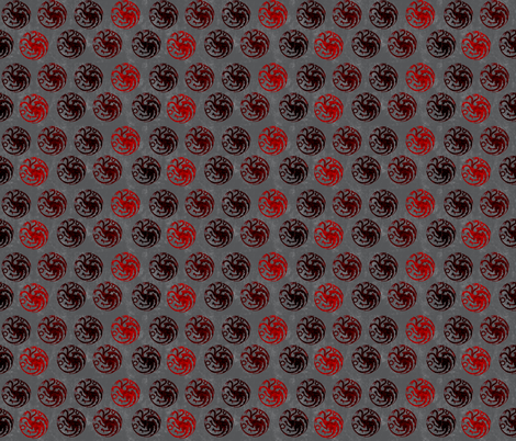 Throne of Games House Targaryen fabric by lanrete58 on Spoonflower - custom fabric