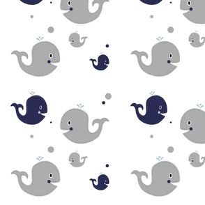 Ezra Nursery Gray Whales