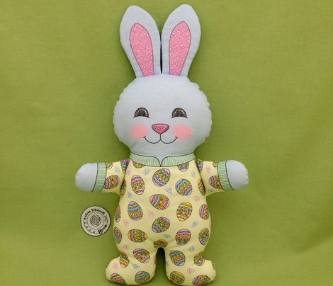 Easter Boy Bunny in Pajamas