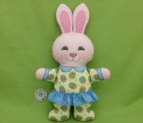 Easter Girl Bunny in Pajamas