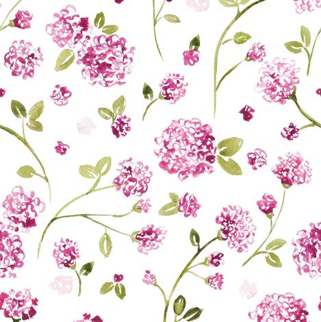 Magenta Watercolor Wildflower Wallpaper Laurapol Spoonflower