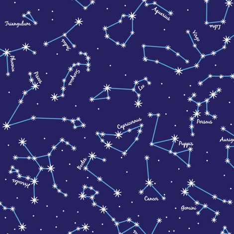 The night sky fabric robyriker spoonflower for Night sky material