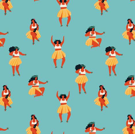 Hula dancers fabric by tasiania on Spoonflower - custom fabric