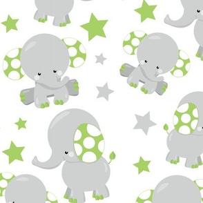 Dreamy Green Elephant 02