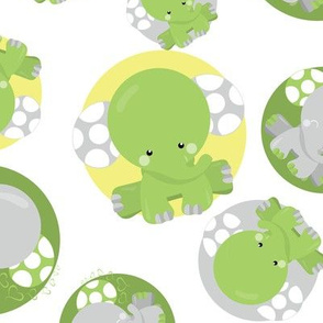 Dreamy Green Elephant 04
