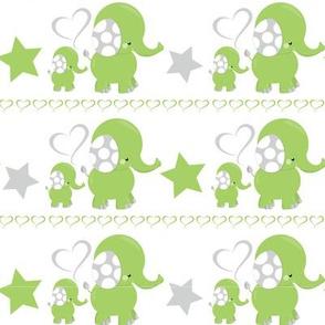 Dreamy Green Elephant 07