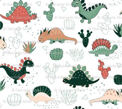 Succulent Dinos (white)
