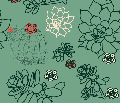cactus_with_limited_palette fabric by bugs4 on Spoonflower - custom fabric
