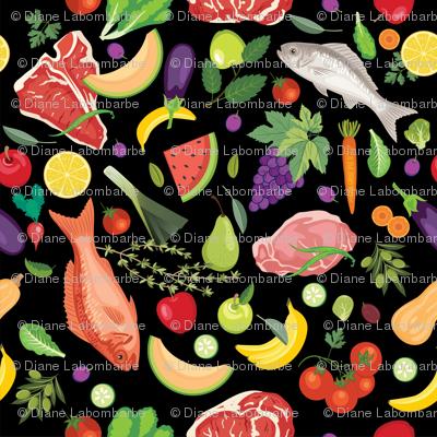 Let's Eat, Black - Fresh Foods