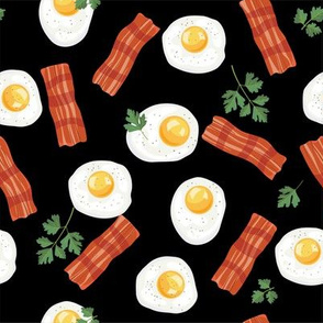Let's Eat, Black -Bacon & Eggs