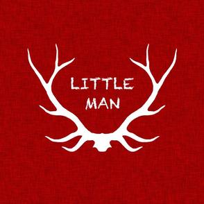 """18"""" Little Man Pillow - Red Linen"""