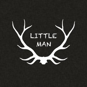 """18"""" Little Man - White on black"""