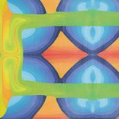 Parrot colours tile