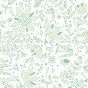 Folk Forest - Mint // by Sweet Melody Designs