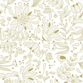Folk Forest - Gold // by Sweet Melody Designs