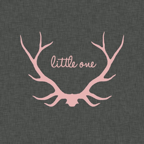 "18"" Little One Antlers - Pink on Gray"