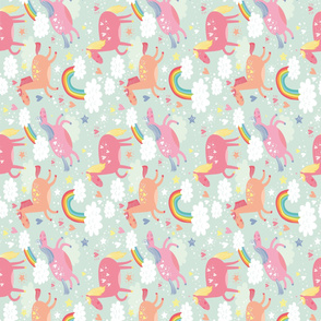 Unicorn & Rainbow flipped