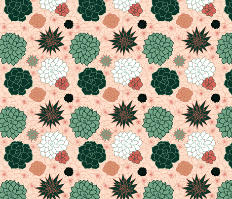 Succulent fabric by fabricandfundesigns on Spoonflower - custom fabric