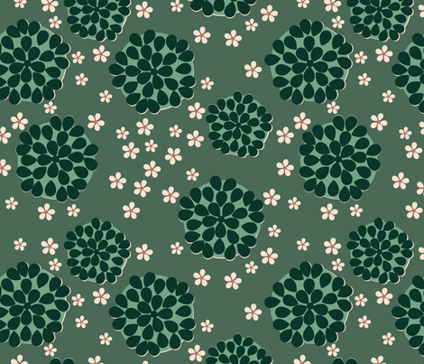SucculentSpoonflower fabric by marinagdesign@gmail_com on Spoonflower - custom fabric
