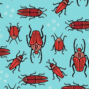 Beetles - aqua