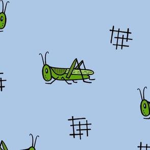 Grasshoppers - light blue