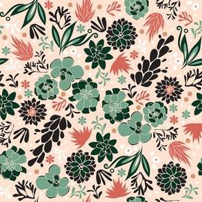 Succulent flowerbed