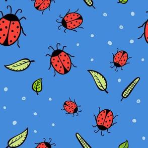 Lady bugs - blue