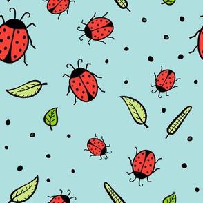 lady bugs - mint