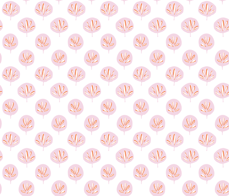 Fan Leaf - Pink fabric by jillbyers on Spoonflower - custom fabric