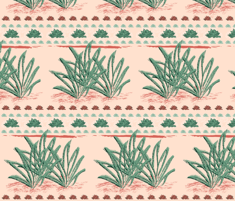 Succulents fabric by boissindesign on Spoonflower - custom fabric
