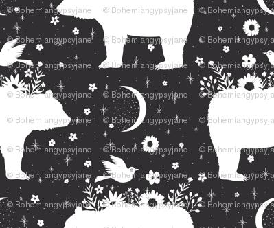 Moonlight Bear - Black & White - Small