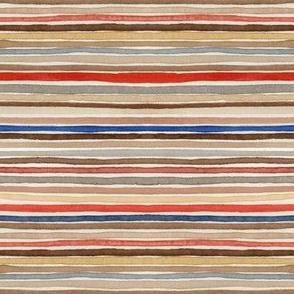 watercolor vintage mail stripes by robayre