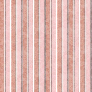 Stripes Faded Peach and Rust 225