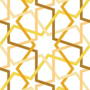 Fivefold geometric continuous lines yellow