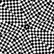 black white squares diamond star pattern