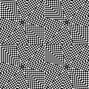 black white squares diamond star pattern