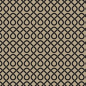 Khaki & Black Geometric