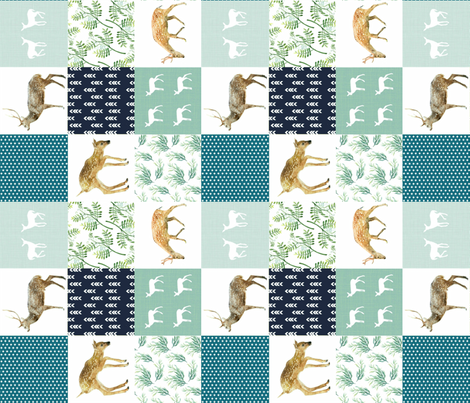 "WOODLANDS BLUES 6"" fabric by moosedesigncompany on Spoonflower - custom fabric"